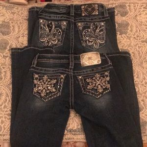 Lot of two miss me girls size 7 bootcut for sale
